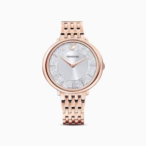 Swarovski SWAROVSKI Crystalline Chic Metal Bracelet Watch - Rose Gold - Gemorie