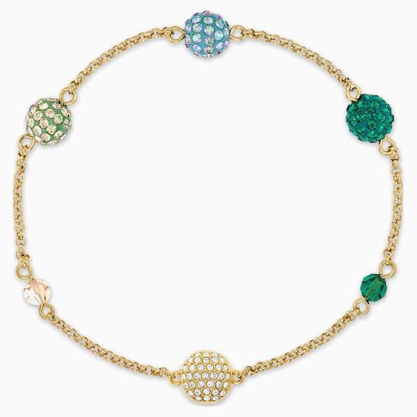 Swarovski SWAROVSKI Remix Collection Pop Strand Bracelet - Green & Gold Tone Plated - Gemorie
