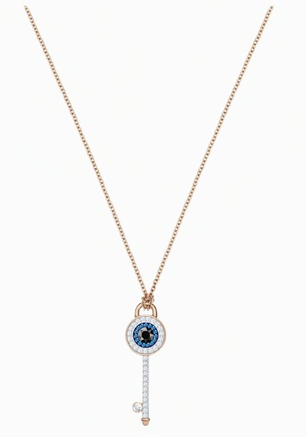Swarovski SWAROVSKI SYMBOLIC EVIL EYE PENDANT, MULTI-COLORED, ROSE-GOLD TONE PLATED - Gemorie