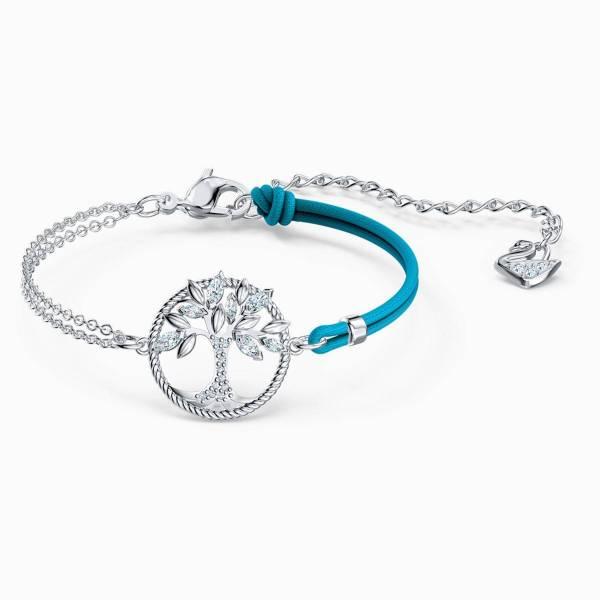 Swarovski SWAROVSKI Symbolic Tree Of Life Bracelet - Blue & Rhodium Plated - Gemorie