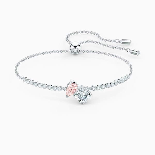 Swarovski SWAVORSKI Attract Soul Bracelet - Pink & Rhodium Plated - Gemorie