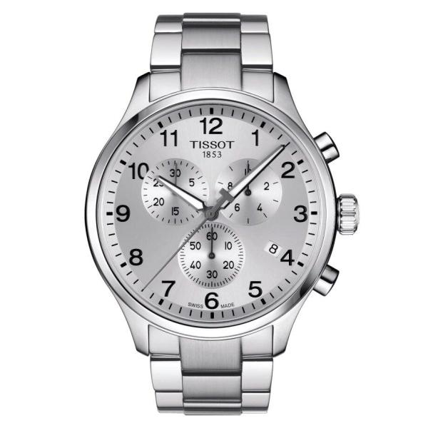 Tissot TISSOT Chrono XL Classic T-Sport Collection Round Arabic Index Watch - Stainless Steel - Gemorie