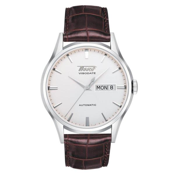 Tissot TISSOT Heritage Visodate Automatic Silver Dial Men's Watch - Brown - Gemorie