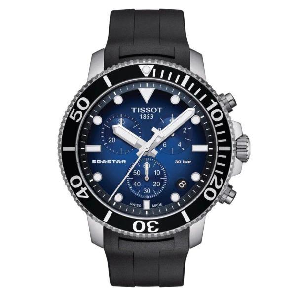 Tissot TISSOT Seastar 1000 Chronograph Men's Watch - Black - Gemorie