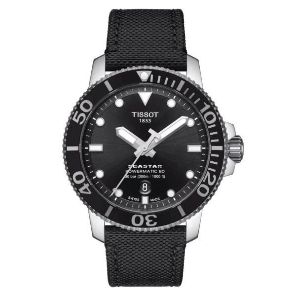 Tissot TISSOT Seastar 1000 Powermatic 80 High Power Reserve Fabric Watch - Black - Gemorie