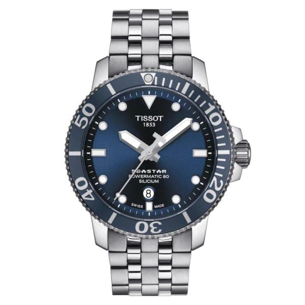 Tissot TISSOT Seastar 1000 Powermatic 80 Silicium Swiss Movement Men's Watch - Stainless Steel - Gemorie