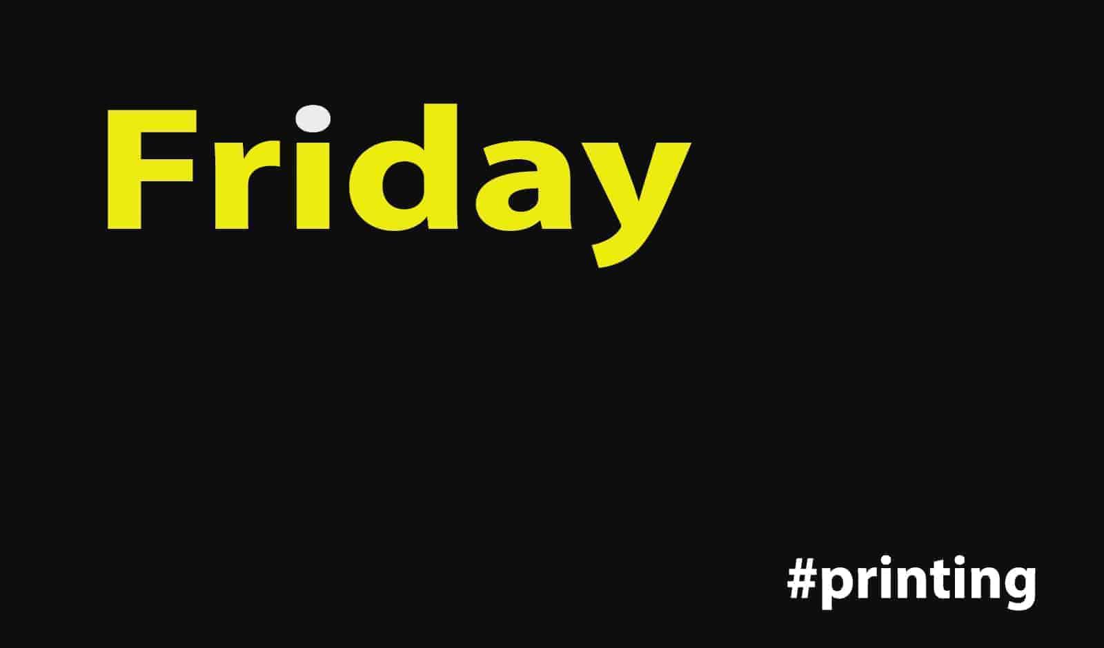 Black Friday printing deals