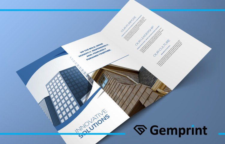 Example of tri-fold brochure