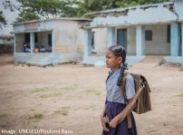"""T. Sushmitha, 9 years old, 5th grade student in Andhra Pradesh, India: """"Of all the subjects I'm taught, Telugu is my favourite. I find English very difficult to learn as it has big, complicated words that I don't understand. If taught at a slow pace, I can understand easily. English, unlike mathematics is not taught as part of the activity based teaching. I don't understand what I've recited, as most others in my class. Everyone finds it difficult to understand English. Since I find difficult to learn and understand English, I want it to be taught at a slow pace and repeatedly till I understand."""""""