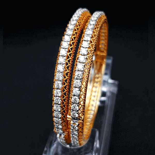 Single Line Diamond Bangles Chure Design - ডায়মন্ড বা হীরার চুড়ি