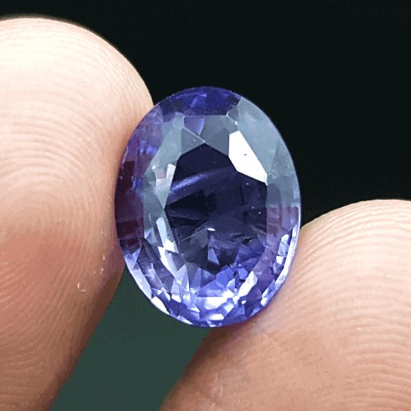 An Original Natural Sri Lankan or Siloni or Ceylon Violet Sapphire (RoktoMukhiNila Pathor) Stone - অরিজিনাল শ্রীলংকান বা সিংহলি বা সিলোনি রক্তমুখী নীলা পাথর