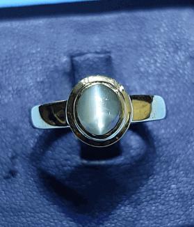 An Original Natural Sri Lankan/ Siloni/ Ceylon Cats Eye Stone Ring Price In Bangladesh - অরিজিনাল শ্রীলংকান সিলোনি ক্যাটস আই/ বৈদুর্যমণি পাথরের দাম