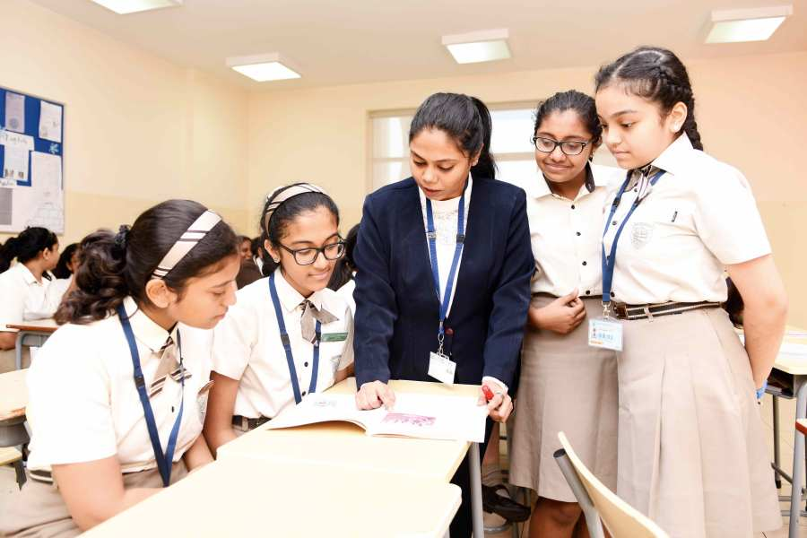 Ameda Mascarenhas with her students