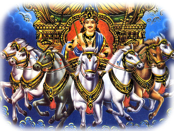 The seven horses of the suns chariot