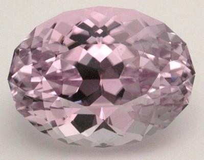 faceted kunzite gemstone