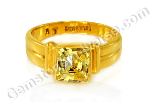 Yellow Sapphire Talisman Jyotish Gemstones