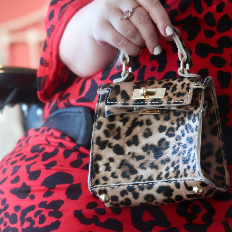 mini leopard print bag
