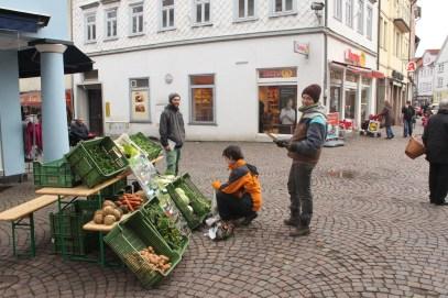 ... auf dem Witzenhäusener Marktplatz