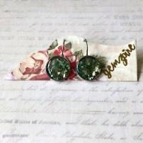 Dazzling Green Dangling Earrings @ $12.90