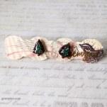 Green Glitter Tree Earrings @ $12.90