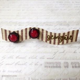 Red Flower Earrings @ $10.90
