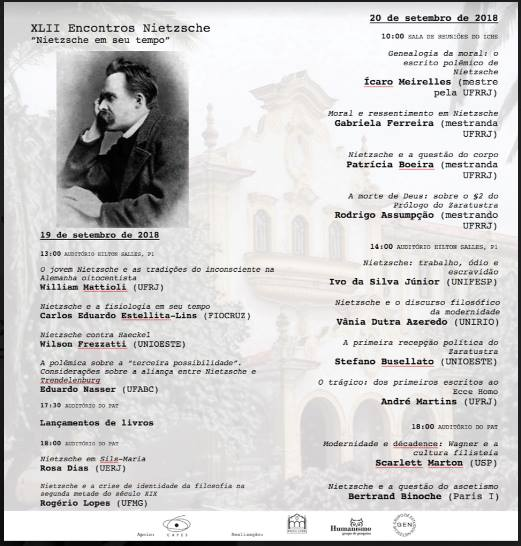 XLII Encontros Nietzsche. Nietzsche em seu tempo