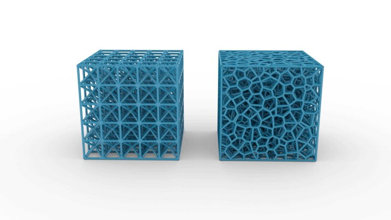 Periodic vs Stochastic lattice structures
