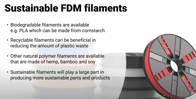 Sustainable FDM filaments
