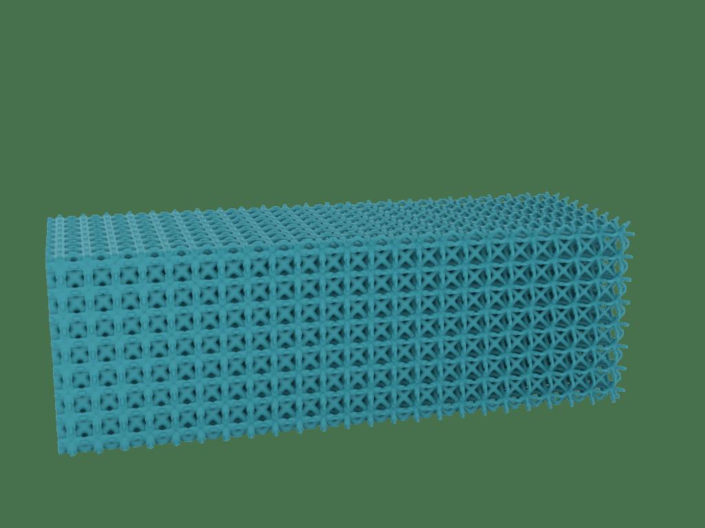 Gradient strut lattice designed using Sulis Lattice