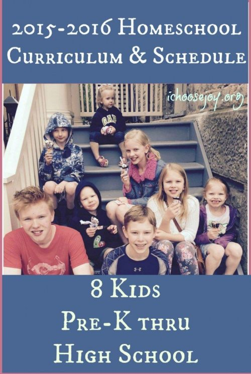 2015-2016 Homeschool Curriculum Choices with Verses of the Year Printables