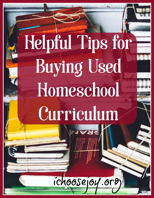 Helpful Tips for Buying Used Homeschool Curriculum