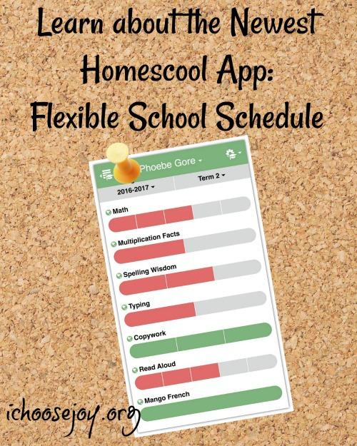 Learn about the newest homeschoo app Flexible School Schedule