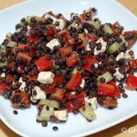 Belugalinsen-Salat mit Feta
