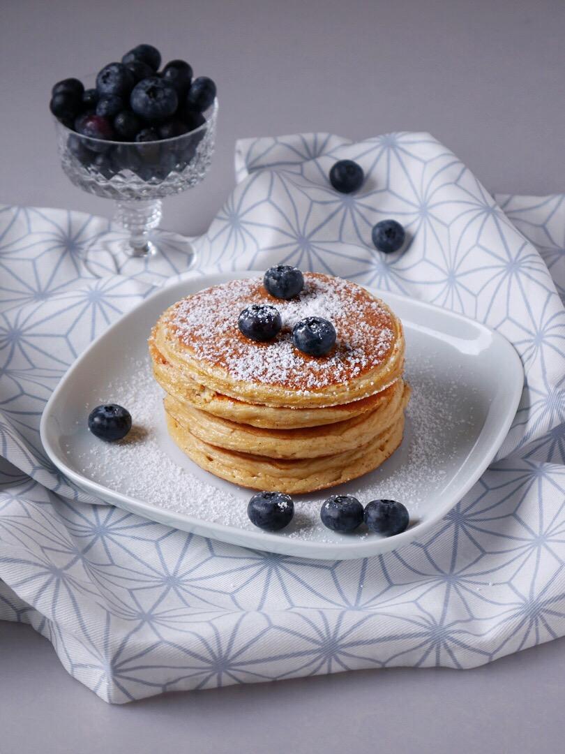 Protein Pancakes mit Heidelbeeren