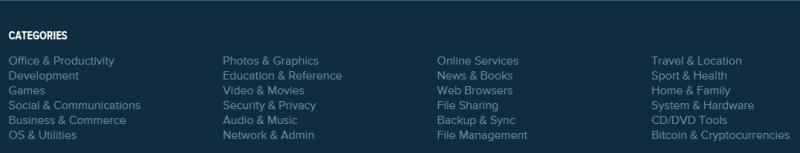 alternativeTo-kategoriler