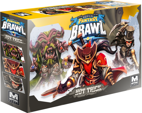 Box art for Hot Trick, a set of expanded characters for Super Fantasy Brawl