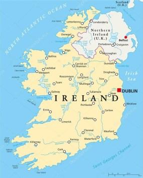 İrlanda Haritası