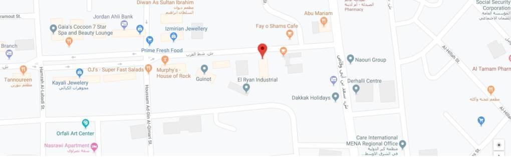 موقع مركز الجندر على الخريطة