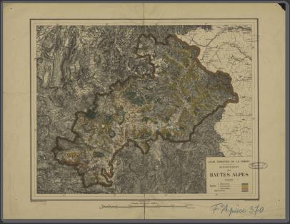 Atlas forestier de la France : département des Hautes-Alpes, 1889 [Document cartographique]