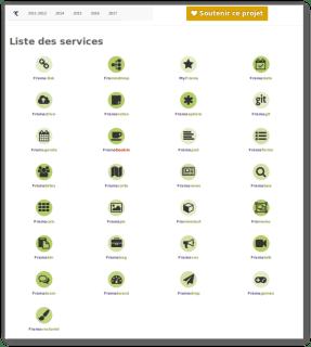 Liste des services