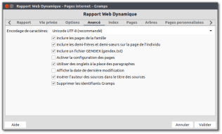 Rapport Web Dynamique - Pages internet - Gramps_224