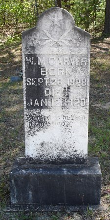 W. M. Carver Tombstone, Godfrey Cemetery, Rabun Co., GA