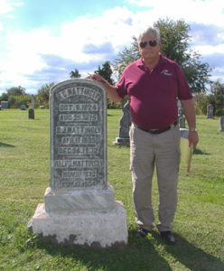 Larry & HC Headstone With Rubbing
