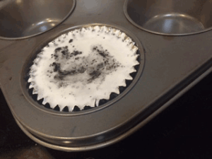 Don't worry about impurities that float to the top of your Rubbing Wax muffin