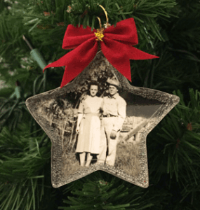 Christmas Ornament featuring Audrey Hoyt and John Whedbee in 1947