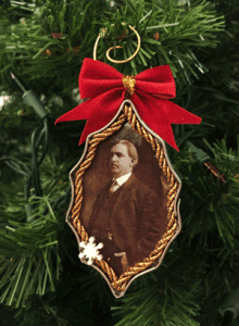 A Cookie Cutter Ornament featuring a photograph of Paul Benton Hoyt