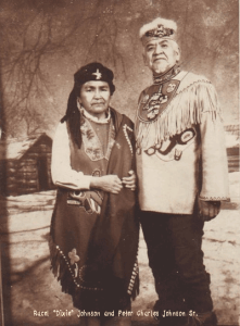 "Photograph of Rachel ""Dixie"" Johnson and Peter Charles Johnson Sr."