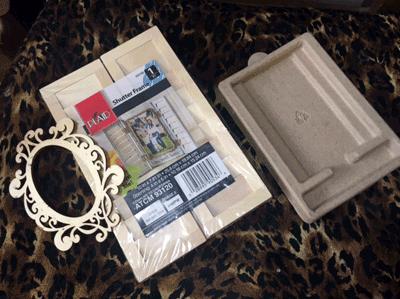 Photo of matterials to make shadow box Ofrenda