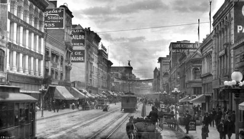Broadway, north from Sixth Street, Los Angeles, ca.1906