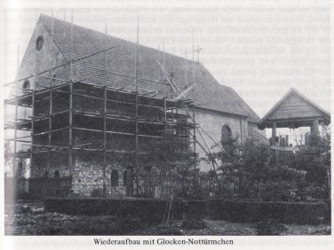 Reconstruction of the church in Berg after the war
